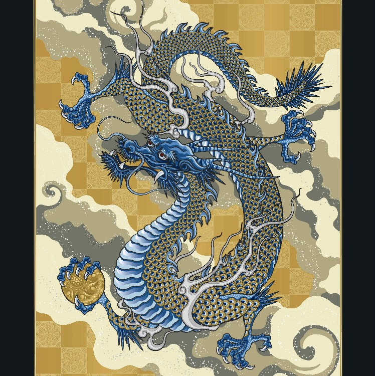 This splendid ceramic framed art collection is based on imaginary animals believed to be the symbols of social success.<br />