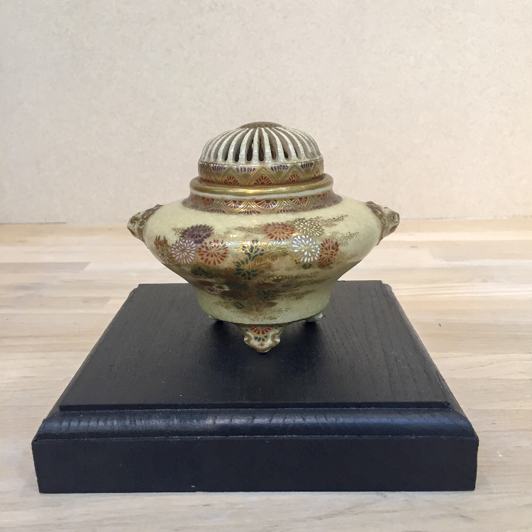 Incense burner of Satsuma porcelain.