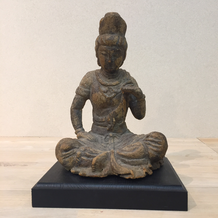 Bodhisattva statue of wood carving