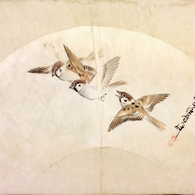 Senmen of a sparrow design ※Please ask us for the price