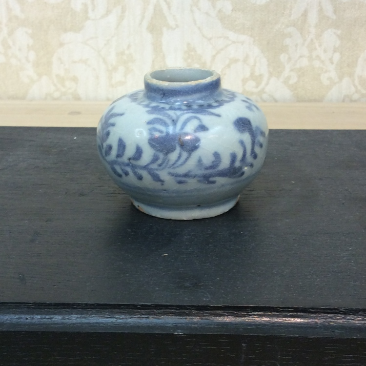 Blue & White Small pot Ming early
