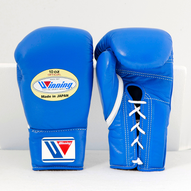 Winning / MS-300 / Boxing Gloves * Lace Type (Blue) 10 oz