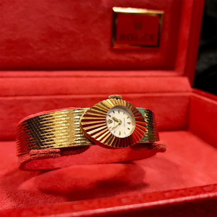 Rolex 18KG Chameleon wristwatch 1960s