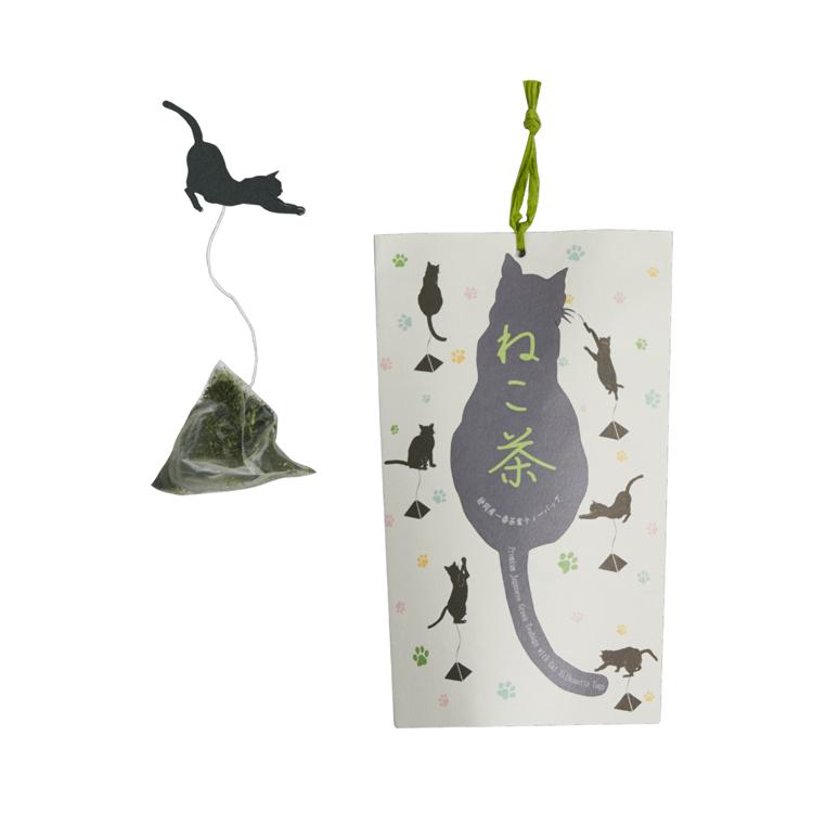 Neko-cha cat teabags (high-grade Shizuoka green tea)