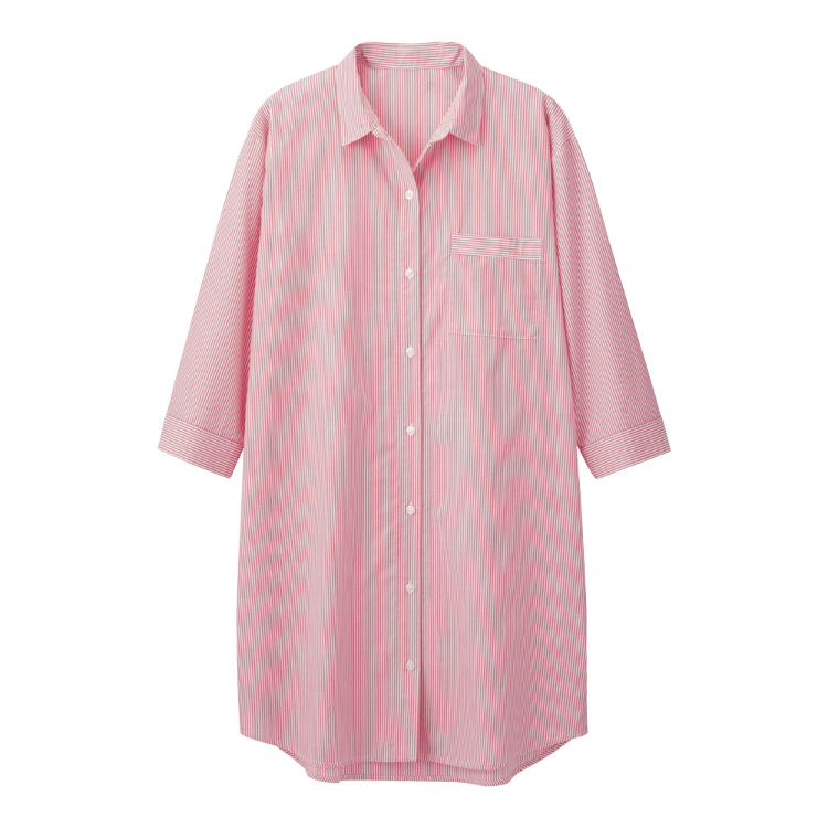 W's pajama striped shirts dress(7)
