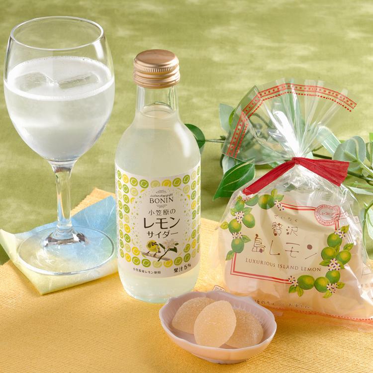 小笠原産レモンを使用したサイダー・ゼリー(品名:贅沢島レモン)