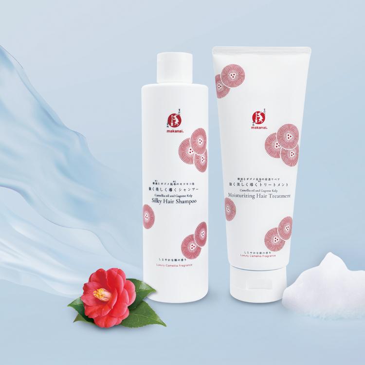 Camellia oil and Gagome Kelp Silky Hair Shampoo Camellia oil and Gagome Kelp Moisturizing Hair Treatment