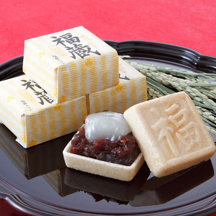 Fukugura<br /> Our store&#039;s most popular offering. Wafers filled with mochi and homemade adzuki bean jam.
