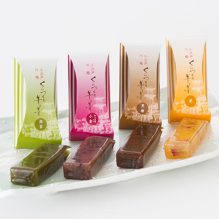 Kuradukuri Yokan<br /> Easy-to-eat bite-sized sweet jelly of adzuki beans allowing customers to enjoy four flavors