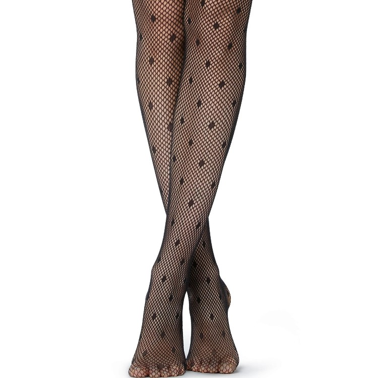 Polka Dot Fishnet Tights