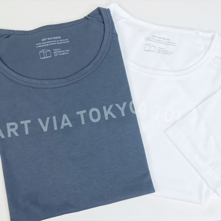 Tokyo Metropolitan Art Museum Original<br /> &quot;ART VIA TOKYO&quot; T-shirt [Made in Japan]