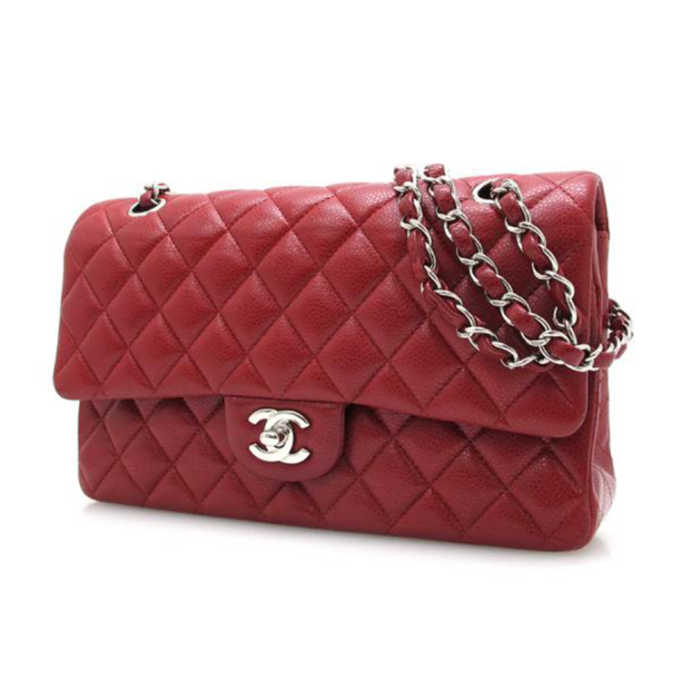 Chanel Caviar Matelasse W Flap Chain Shoulder Bag