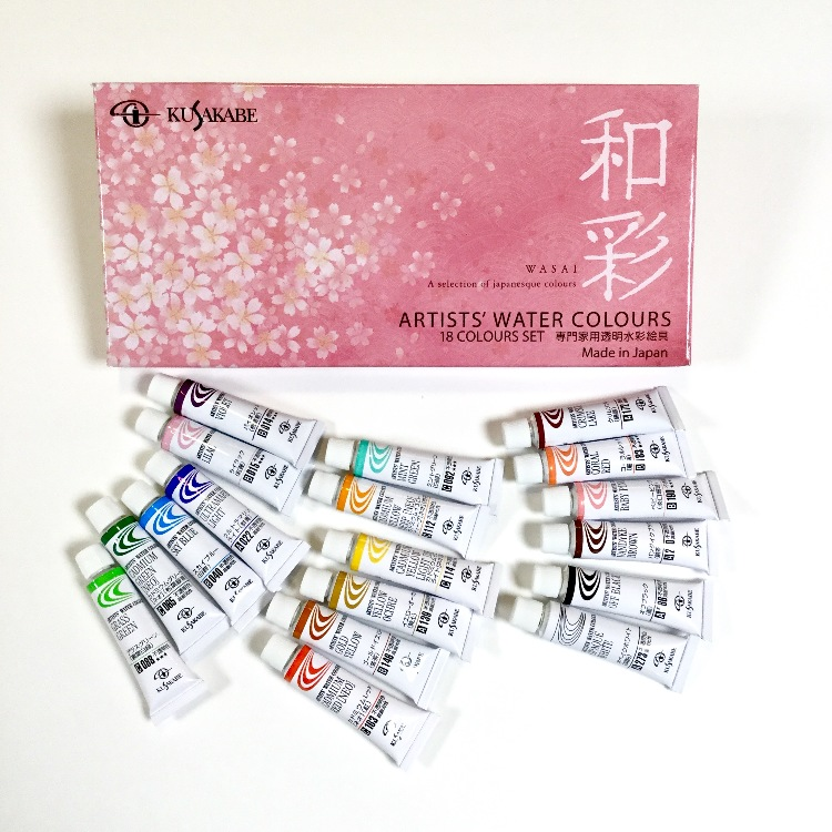 Artist' water colors 18colours WASAI