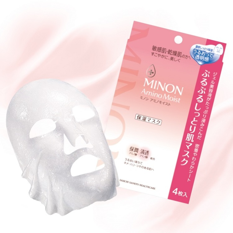 Minon Amino Moist Purupuru 滋润肌肤面膜22毫升×4张