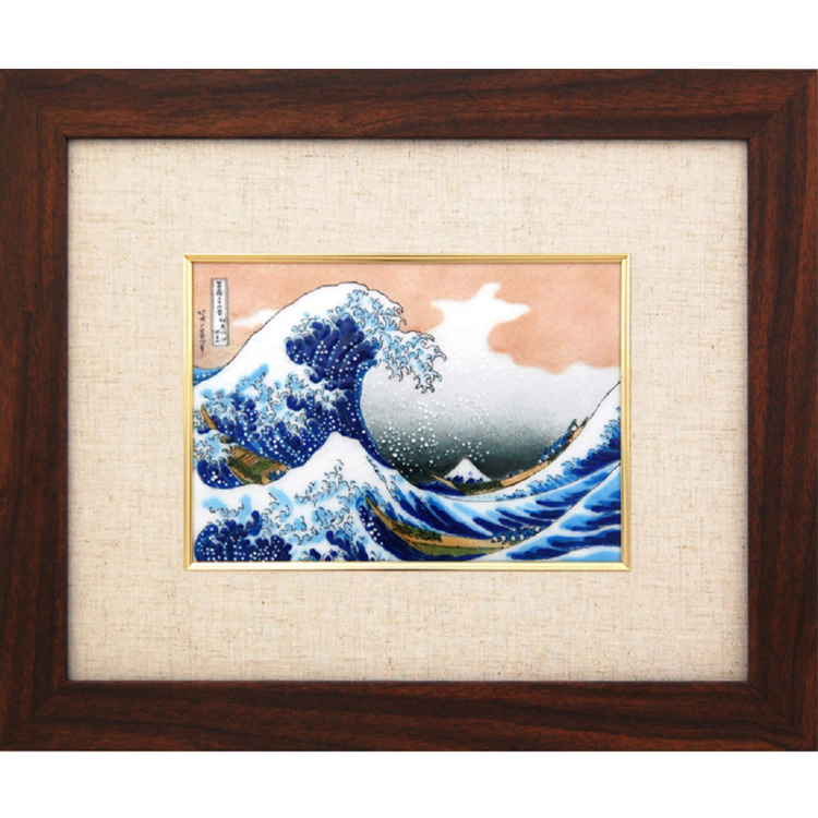 Cloisonne Hokusai The Great Wave off Kanagawa frame