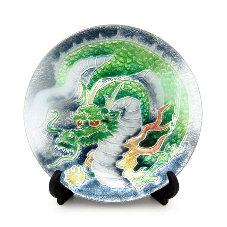 Cloisonne Dragon show plate
