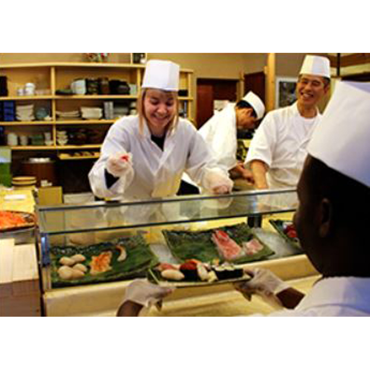 Experience making sushi at a sushi restaurant