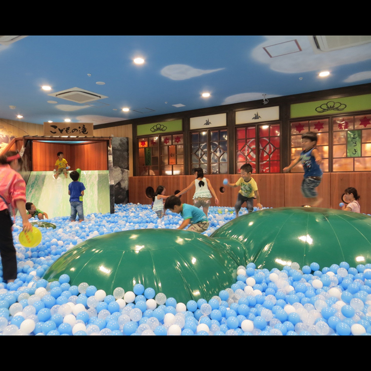 Kodomo no Yu -One of the largest ever ball pools-