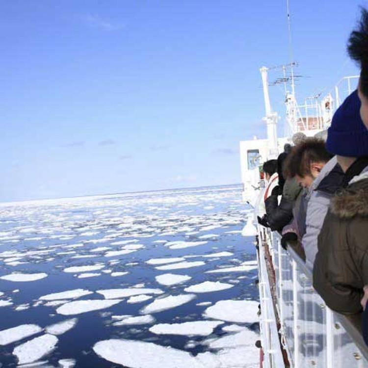 Abashiri Drift Ice Sighteseeing Icebreaker Ship Aurora Live