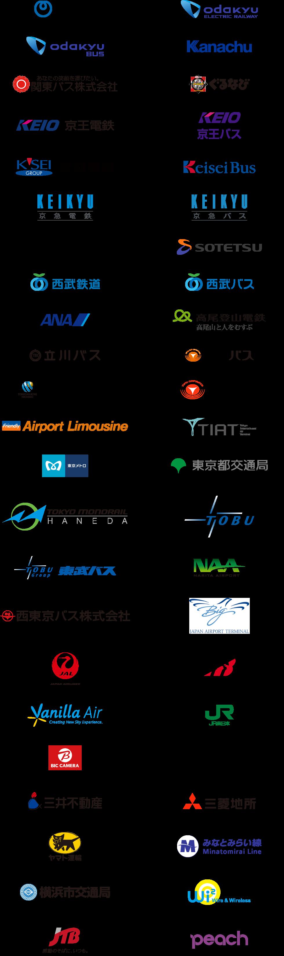 LIVE JAPAN PERFECT GUIDE TOKYO の趣旨に賛同する企業